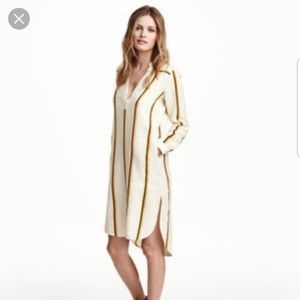 H&M Striped Linen Dress